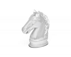 Spaarpot Paard zilver kleur