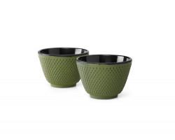 Kopjes Xilin gietijzer groen set/2