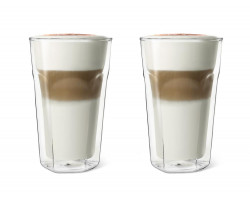 Dubbelw. glas Latte Macchiato 280ml s/2