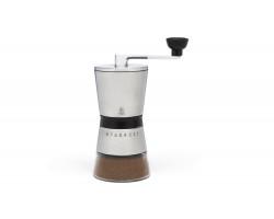 Koffiemolen Bologna rvs met glas