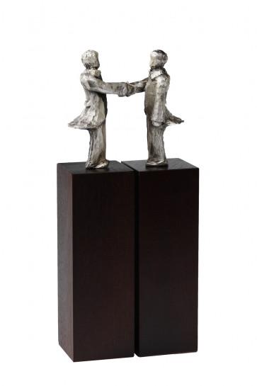 Sculptuur Overeenkomst verzilverd
