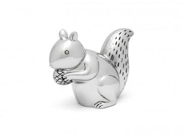 Spaarpot Eekhoorn zilver kleur