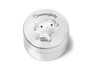 Tanden/haarlok doosje CharmmyKitty  5.5x4.5cm vz./l.