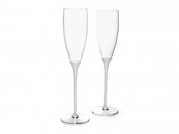Champagneglazen Smooth s/2 RVS
