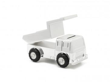 Spaarpot Truck verzilverd gelakt