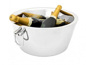 Champagneschaal dubbelwandig (met oren) rvs