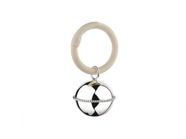 Rammelaar Bal parel aan ring zilver 925