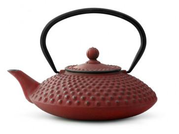 Theepot Xilin 1,25L gietijzer rood