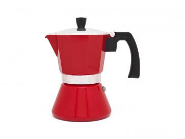 Espressomaker Tivoli rood 6 cups (inductie)