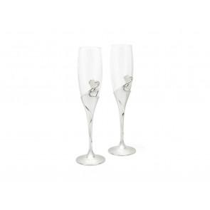 Champagneglazen Hart s/2 RVS