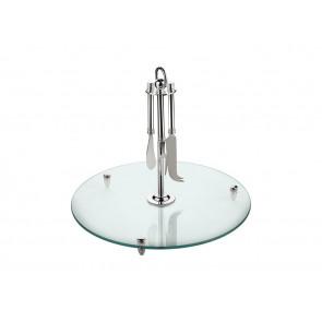 Serveerschaal glas met mesjes vz.