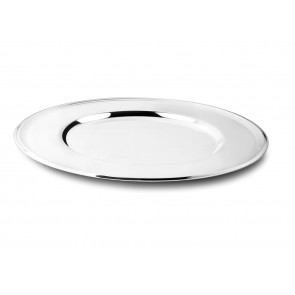Onderbord Filet 33cm zilver kleur