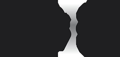 Oblique theelichthouder set van 3 rvs