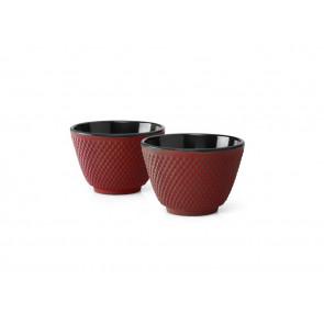 Kopjes Xilin  gietijzer rood set/2