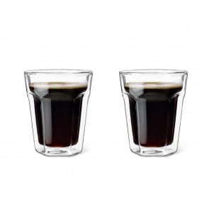 Dubbelwandig glas Koffie 220ml s/2
