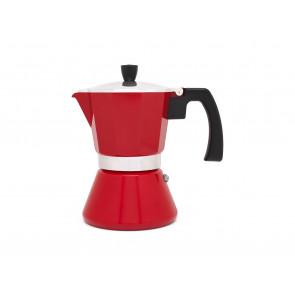 Espressomaker Tivoli 6-kops rood