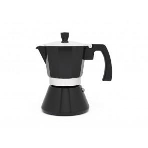 Espressomaker Tivoli 6-kops zwart