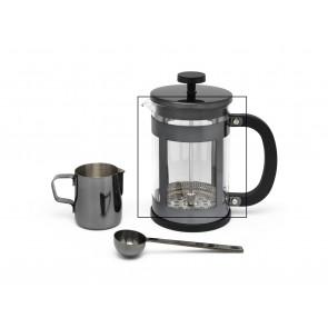 Glas voor koffie & theemaker set Shiny black en Koper LV113013 en LV113014